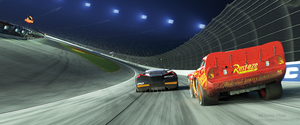 Cars 3 Lightning McQueen vs Jackson Storm 1000x416 by LightningMcQueen2017