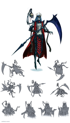 Necromancer concept art by AntheiaVaulor
