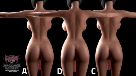 G4E:  What's the best shape for Sayako's ass? by affect3d-com
