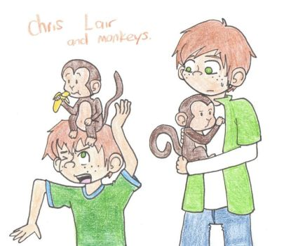 Chris Lair and the Monkeys By Drefeno by Hillygon