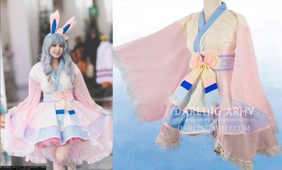 Deluxe Sylveon Cosplay Kimono Dress by DarlingArmy