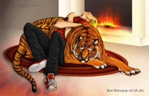 Calvin and Hobbes by VirvaPP