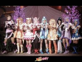 Lets Give Love - Precure All Stars by shinobimarkee