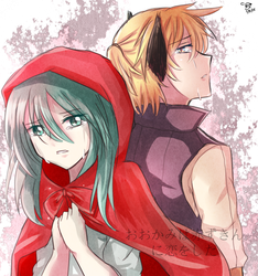 The wolf and Red riding Hood by HaiperKun