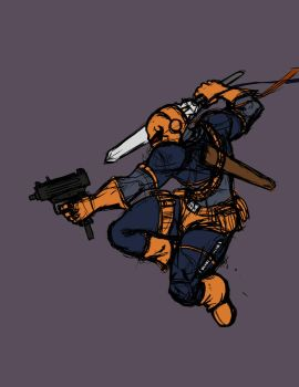 Day 6: Deathstroke by czone