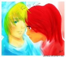 Finn and Flara (Flame Princess): I'm here for you by WhiteKiss