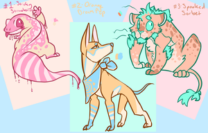 Colorful Auction Adoptables 2 [OPEN 2/3] by ObnoxiousGiraffe