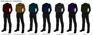 Starfleet '2409' Uniforms - Duty Uniform (Off) by HaphazArtGeek