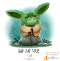 Daily Paint 1517. Hamstar Wars - Yoda by Cryptid-Creations