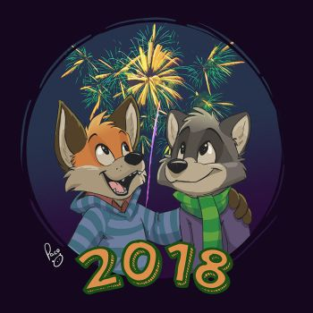 New Year 2018 by pandapaco