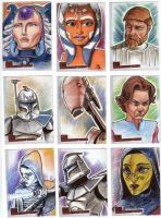 Clone Wars Sketch Cards 5 by prmedia