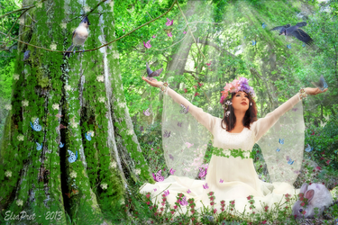 Maia - Greek goddess of spring and growth by Elsapret