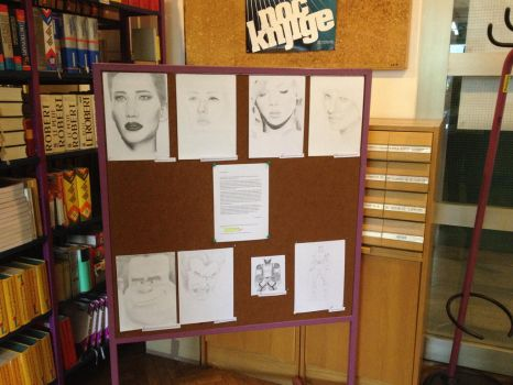 School exhibition - my work by Crolossus