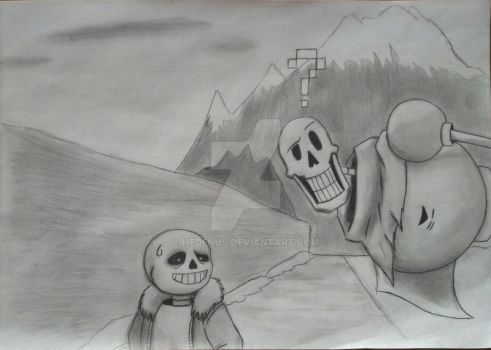 Sans,Oh My God, is that...a Human!?! by Hedenus