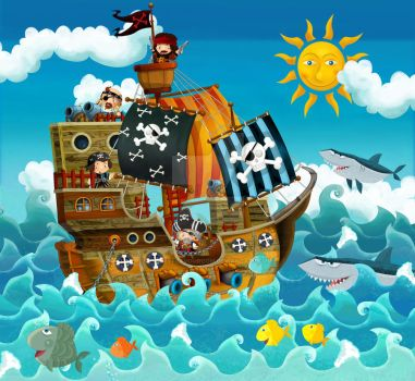 pirate ship by honeyflavourcom