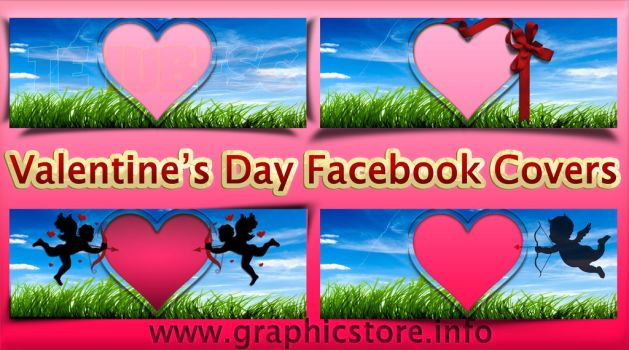 Valentine Heart Frame Facebook Covers PNG by silviubacky