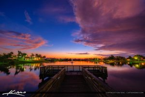 Lakeside-Challenger-Park-Royal-Palm-Beach-Sunset by CaptainKimo