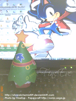 Sonic Xmas Tree by FineEve by SilverAlchemist09