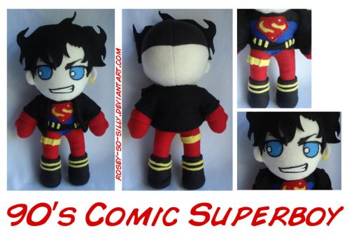 90's Superboy Plush by rosey-so-silly