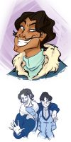 Varrick and Zhu Li by tobleronetanz