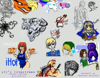 Cry's Livestream Drawing Session 3.11.2012 by tirsden