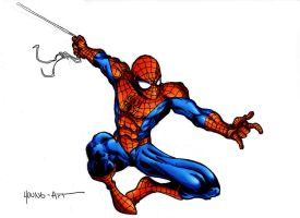 Spider-man new Colouring style by ParisAlleyne