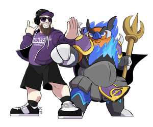 Commission - Twitch Streamer and Ganonboar by seto
