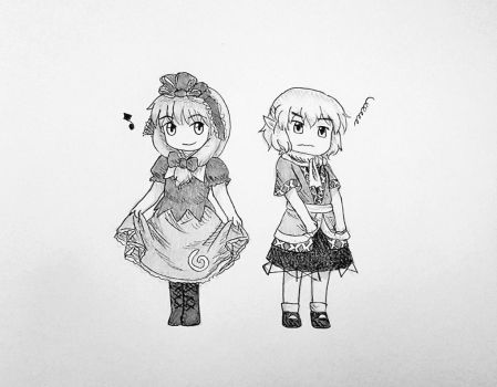 Hina and Parsee by lNiyu