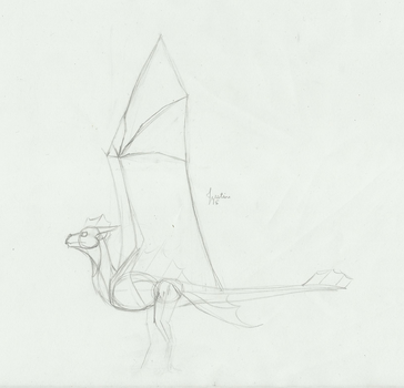 Sea Wyvern Wing Design by Draconia4
