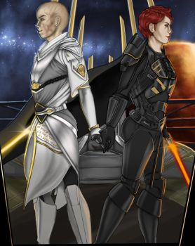 Eternal Duo: Emperor and Exarch by Glorfinniell