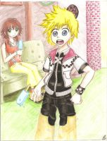 Roxas and Olette by kyotoxo1