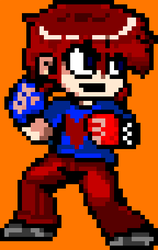 Personal Scott Pilgrim Sprite by supergrat