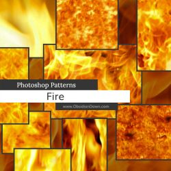 Fire Photoshop Patterns by redheadstock