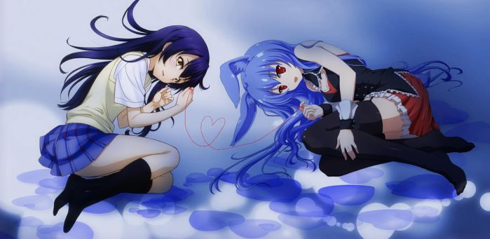 I'm blue - Umi Sonoda x Kurousagi (Black Rabbit) by KyoFlameAshHylden