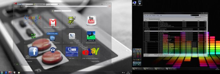 Desktop, Opera and Foobar by DaemonReality