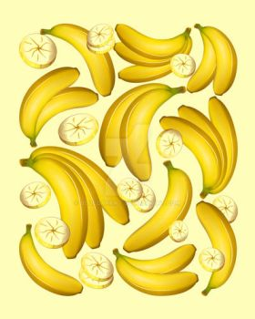 Banana Fruity Pattern by Bluedarkat
