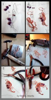 Step by step wire wrapping earrings by mea00