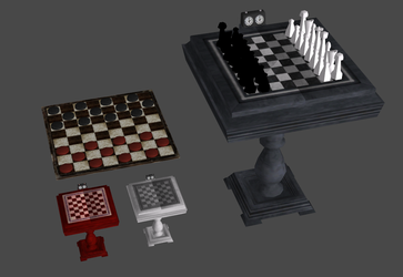 Chess and checkers stuff (OBJ) by DigitalExplorations