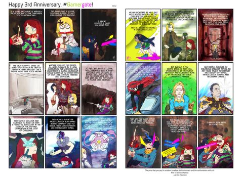 Happy 3rd Anniversary #Gamergate! by illeity