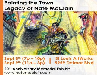 Art Exhibit Sept 8th and 9th in St. Louis MO by natemcclainart