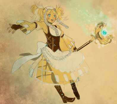 [Rough sketch] Lissa's blessing by RedTaiga