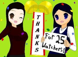 Thanks for 25 watchers! by RoseandherThorns