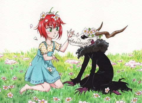 Little Chise and Little Elias by monyta