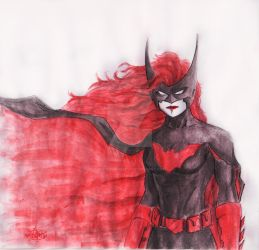 Batwoman - First Sketch Paint by anonymous1310