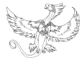 CoatlFRlineart by talons-and-tails