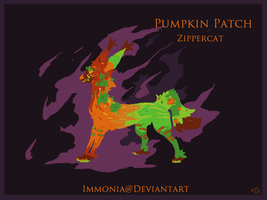 Holiday Zippercat: Pumpkin Patch [CLOSED] by Immonia