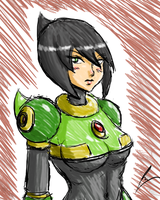 Jet woman underboobs but no skin color by borockman