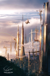 Futuristic City by Vitaly-Sokol