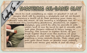 Cosplay Tip 49 - Smoothing Oil-Based Clay by Bllacksheep