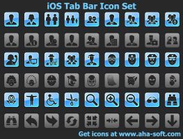 iOS Tab Bar Icon Set by shockvideoee